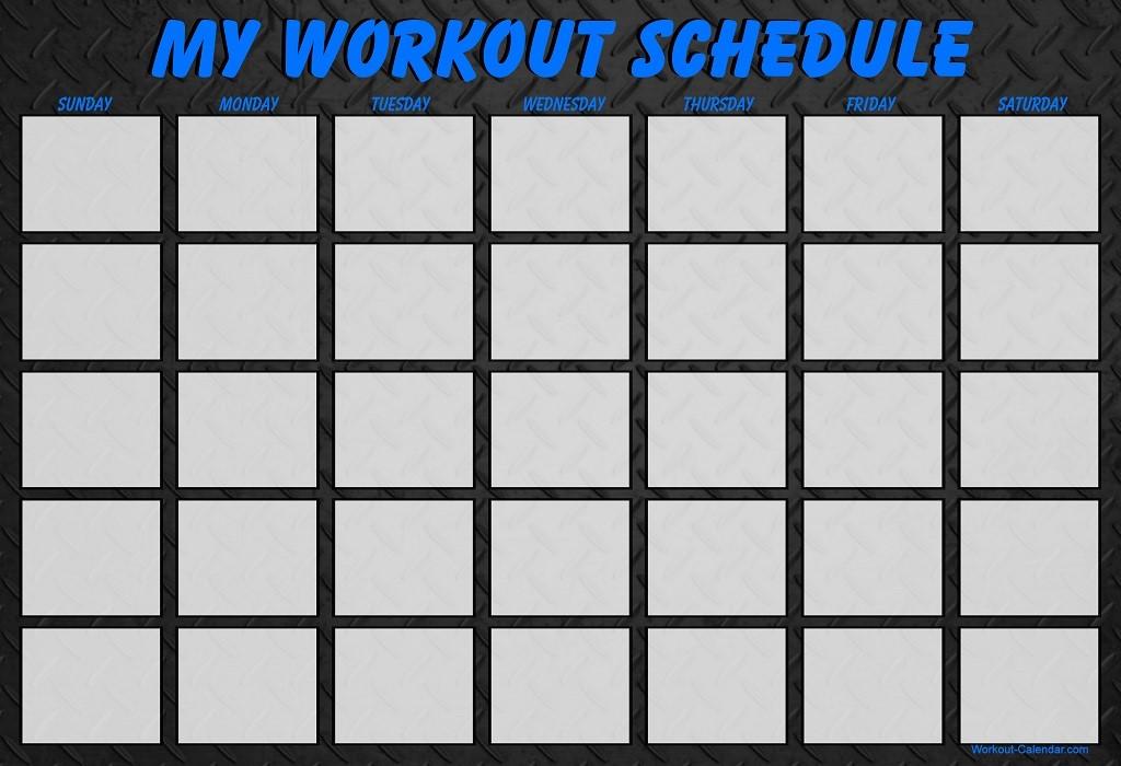 Blank Calendar Day : Fitness slice of health